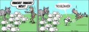 wolf en skape